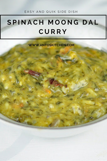 spinach moong dal curry