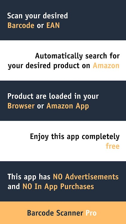 Ad Free Barcode Scanner for Amazon Shopping – (Android Aplikace