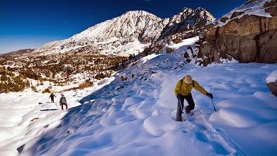 Photo: Snow shoeing to Treasure Lakes