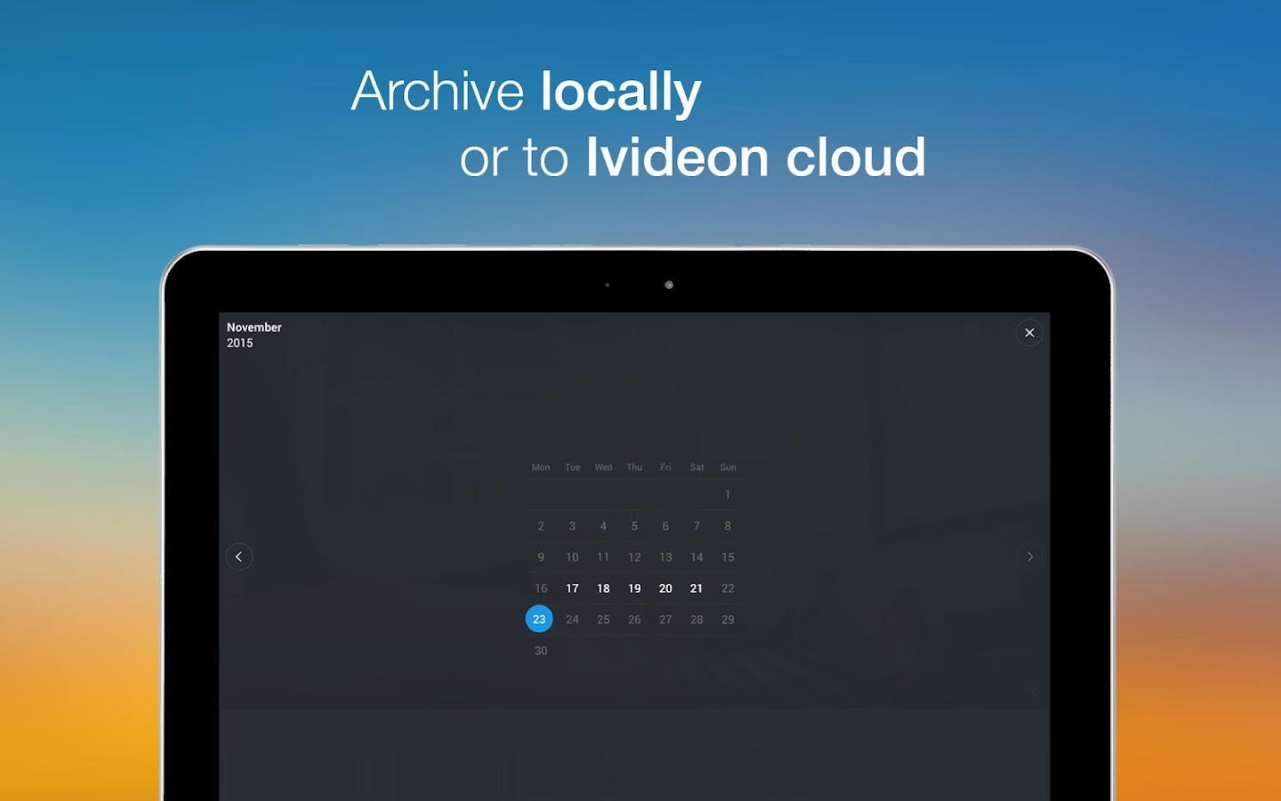 Video Surveillance Ivideon- screenshot
