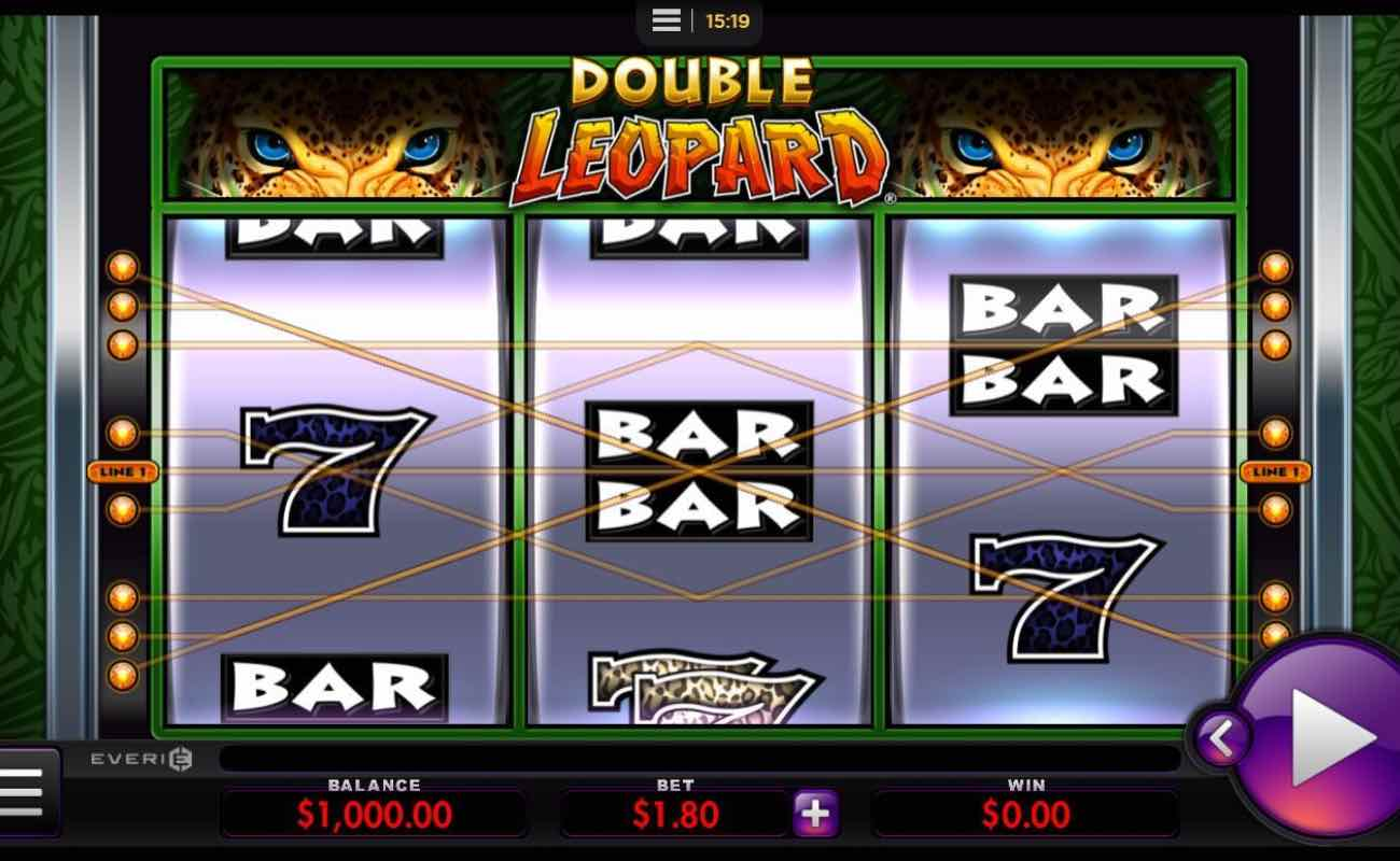Double Leopard online slot casino game by Everi