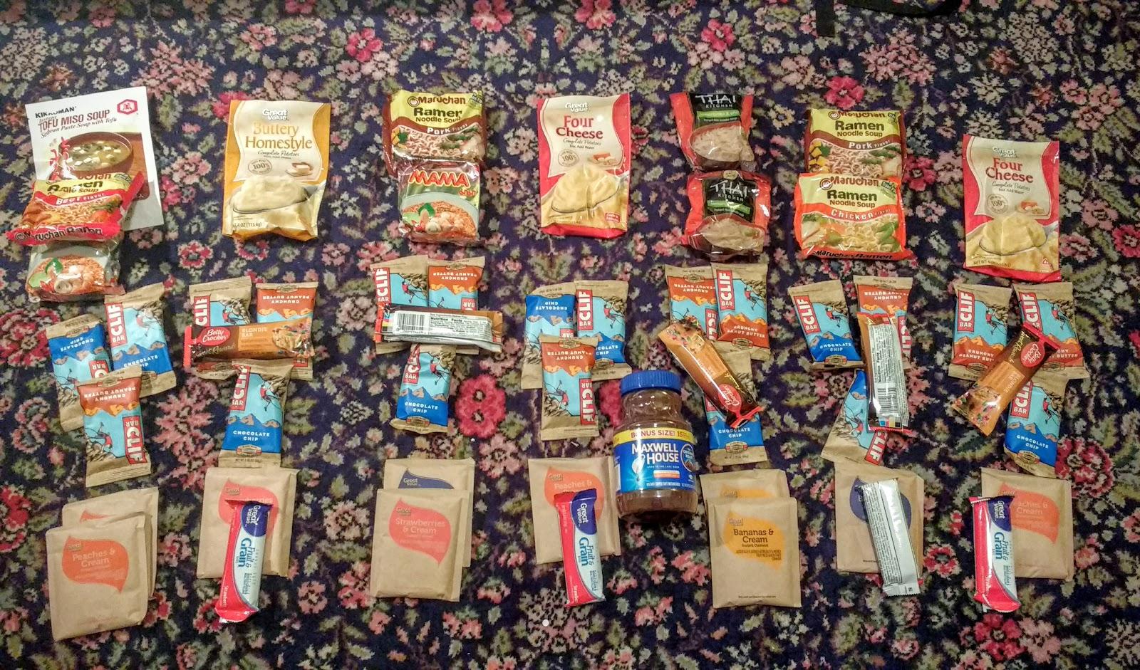 Appalachian Trail Food