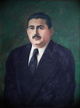 """Photo: Bruno Steinbach Silva. """"Retrato do Governador Dix-Sept Rosado"""". acrílica/tela, 100 x 80 cm, 1997, Mossoró, Rio Grande do Norte, Brasil. Coleção: Adalgisa Rosado."""