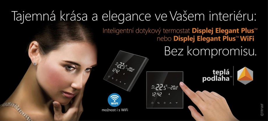 Displej Elegant Plus touch screen thermostat