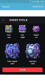 Stats Clash Royale Next Chest - náhled