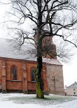 Photo: Stadtkirche Woldegk mit großen Wasserschäden