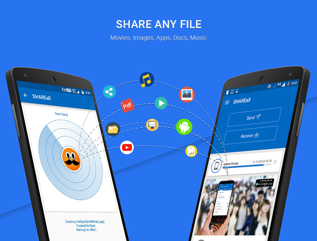 SHAREall: Transfer & Share (No Internet Required)- screenshot