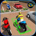 Bike Parking 2017 - Motorcycle Racing Adventure 3D icon