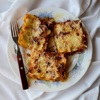 Basic Lasagna with Bolognese Sauce