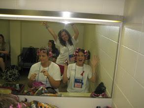 Photo: Dressing room in Nebraska getting ready to perform!