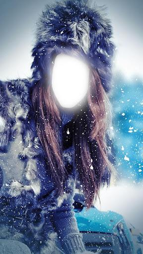 冰雪女王照片蒙太奇