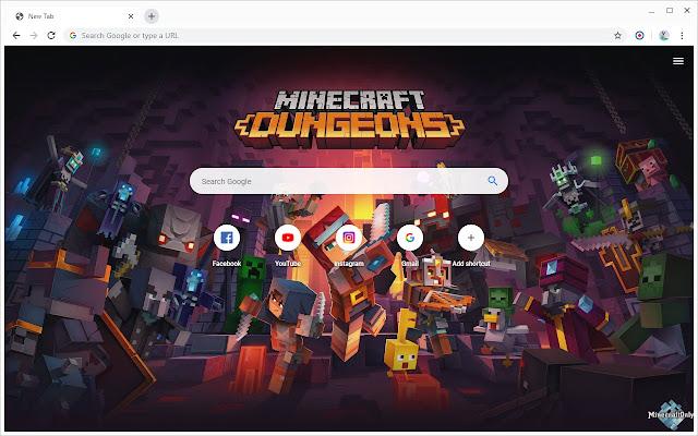 New Tab - Minecraft Dungeons
