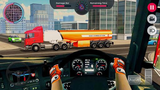 Oil Tanker Transporter Truck Games 2 apktram screenshots 4