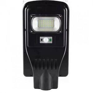 Lampa stradala cu panou solar 30W senzor lumina, Negru