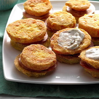 Fried Green Tomato Stacks.
