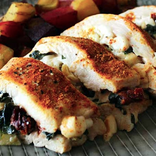 Healthy Stuffed Chicken Breasts.