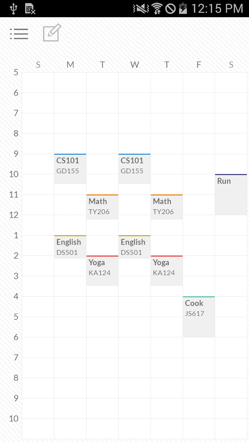 Timetable TimeSpread- screenshot