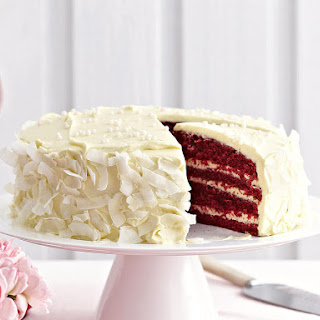 Red Velvet Cake with Mascarpone Icing.