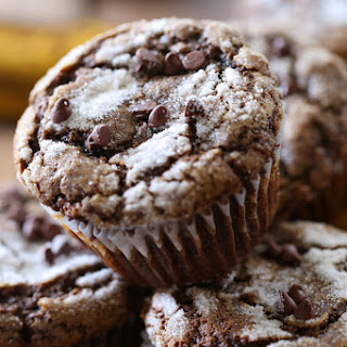 Chocolate Banana Muffins.