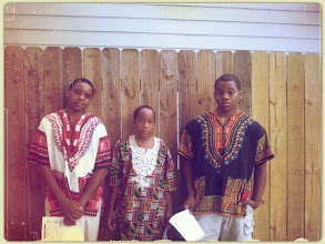 Photo: Love this pic! The boys are going to a workshop and are all ready to go in their dashikis.