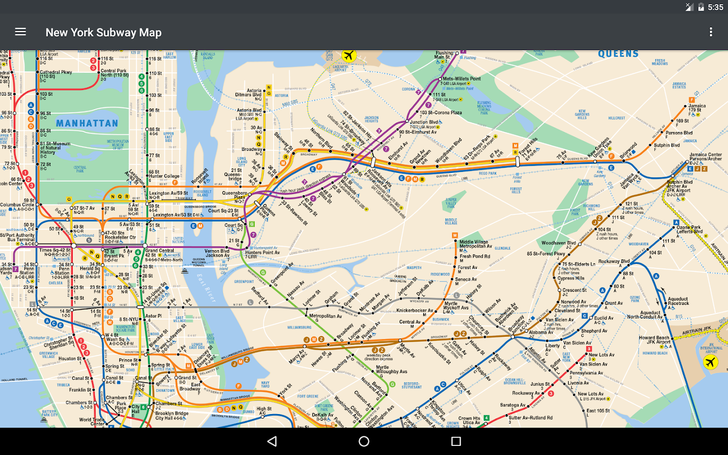 New York Subway Map NYC Android Apps On Google Play - New york subway map new