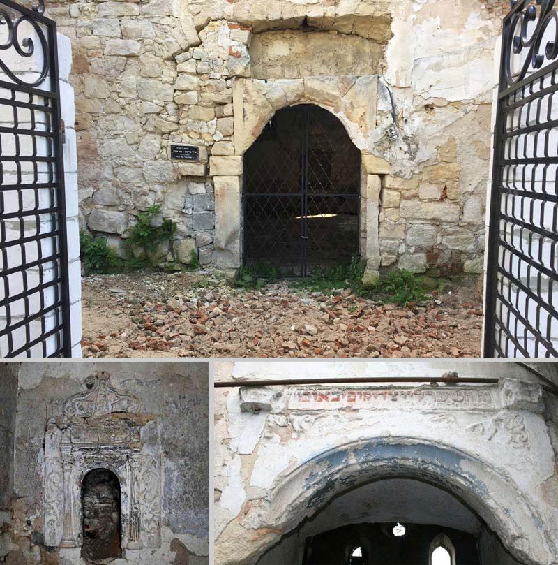 Вход в синагогу в Подгайцах ныне украшает вот такая дыра. Ниже - фотографии украденных реликвий. Фото ujew.com.ua