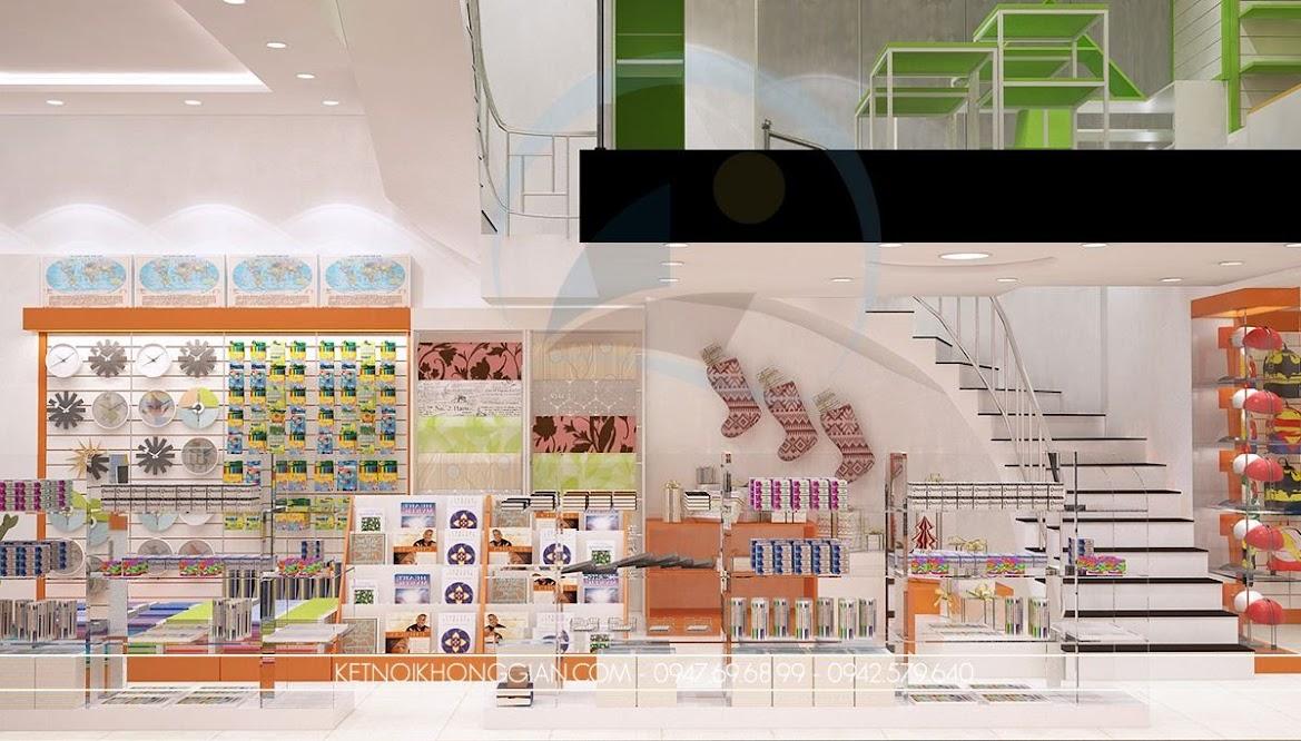 thiết kế nội thất nhà sách cuốn hút