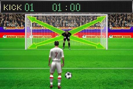 Football penalty. Shots on goal. 6