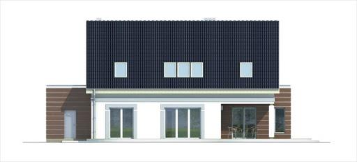 Ada wersja A z pojedynczym garażem - Elewacja tylna