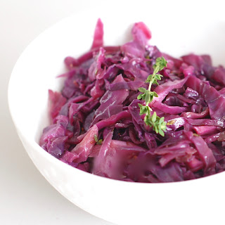 Braised Red Cabbage and Apples with Maple and Thyme Recipe