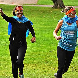 Girl  power by Gordon Simpson - Sports & Fitness Running