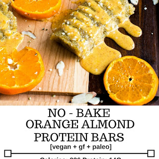 No Bake Orange Almond Protein Bars Recipe