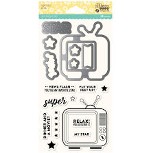Jillibean Soup Shaker Clear Stamps & Die Set - Super Star UTGÅENDE