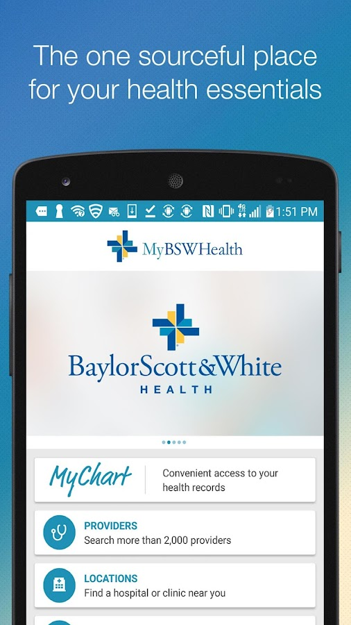 MyBSWHealth- screenshot
