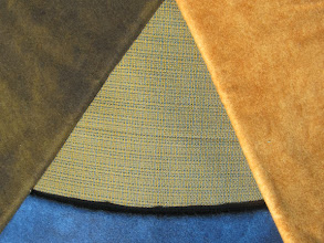 Photo: Flannels in blue olive brown and gold with weave fabric