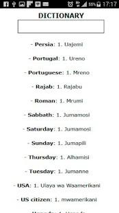 Swahili-English: Dictionary - náhled
