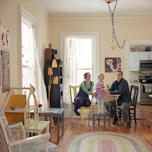 Photo: title: Christina Bechstein, Pete Nenortas + Melu Bechstein Nenortas, Portland, Maine date: 2016 relationship: friends, art, met through Nat May years known: Christina 5-10; Pete 0-5