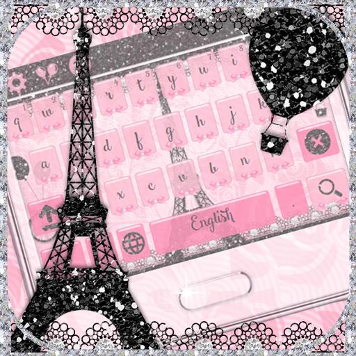 Pink Paris Theme Rose Keyboard