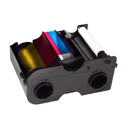 Färgband Fargo DTC1000 - YMCKOK - 200 utskrifter