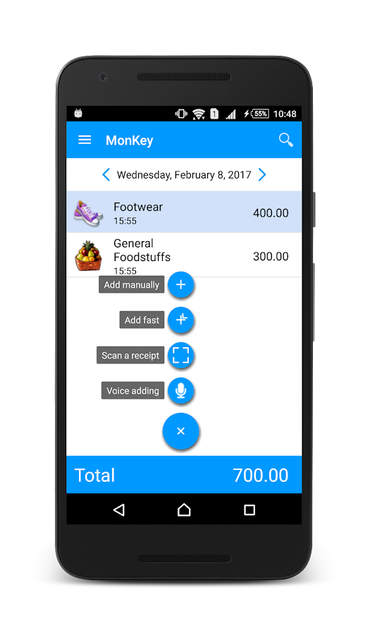 MonKey - Budget Tracker- screenshot