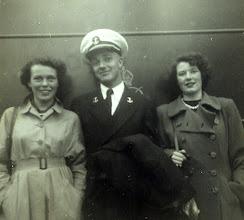 Photo: Friends - Scotland on Midshipman cruise USS Wisconsin 1953