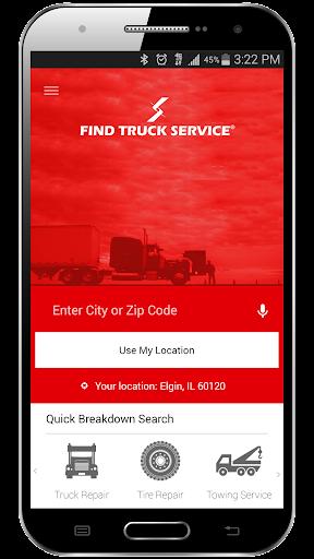 Find Truck Service Trucker App