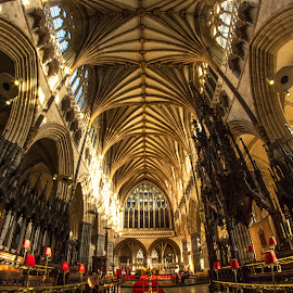 Exeter Cathedral. by Simon Page - Buildings & Architecture Places of Worship
