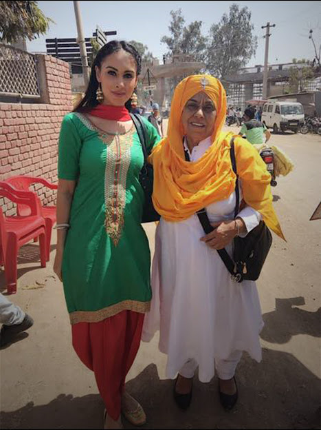 Deana Uppal in green suite, Deana Uppal in punjabi movie hard kaur