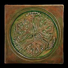 Photo: Beautiful art tile by artist Linda Thorson of LindaThorsonDesign.com http://www.lindathorsondesign.com/