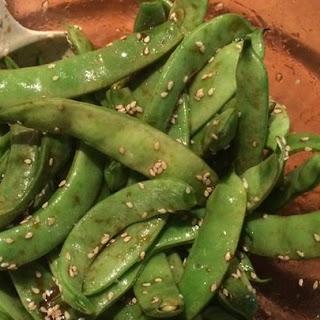Asian Sugar Snap Pea Appetizer