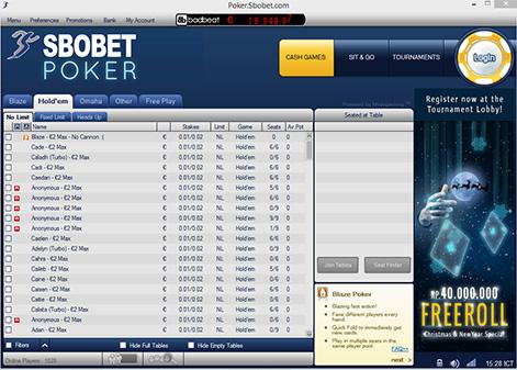 SBOBET Poker Client