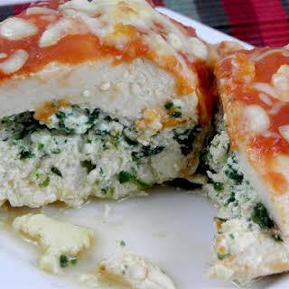 Baked Stuffed Chicken &Spinach.