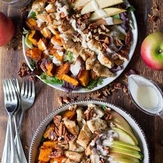 Paleo Butternut Apple Chicken Salad w/Creamy Maple Dressing.