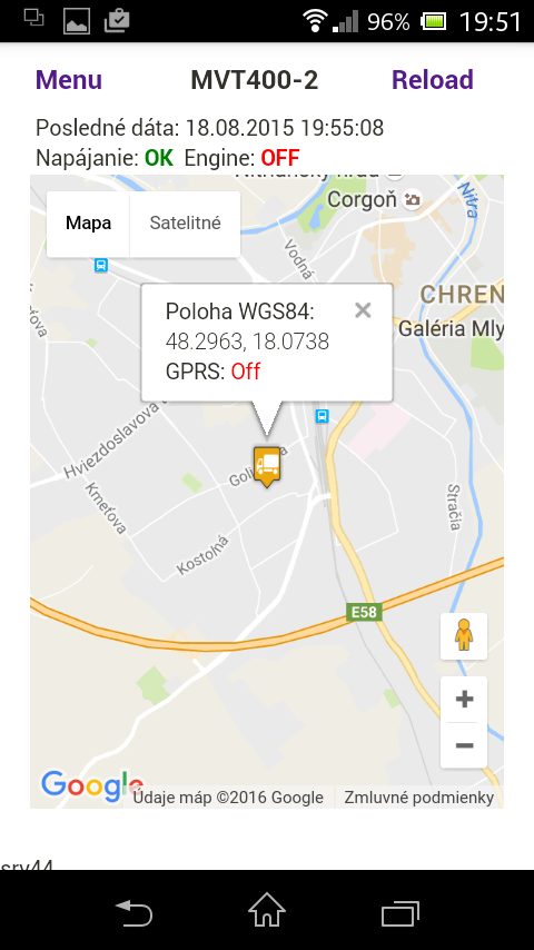 AQS - GPS monitoring- screenshot